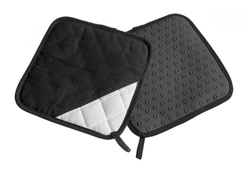 Karstumizturīgu dvielīšu komplekts 2gab. kokvilnas/silikona melns, Lurch