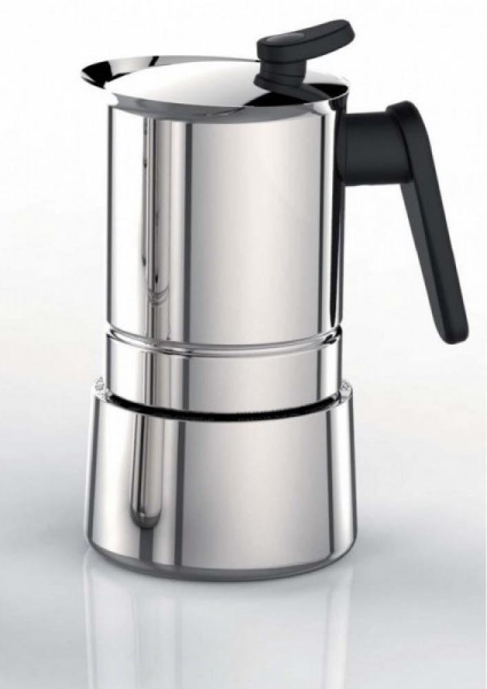 Steel moka espresso vārītājs 6 tasītēm indukcijai