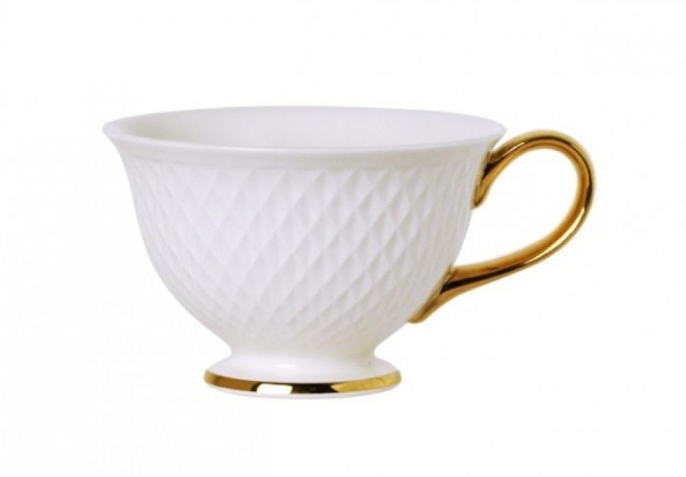 E Clat gold tējas tase ar apakštasi 25CL