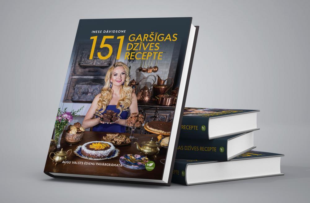 """Ineses Dāvidsones grāmata """"151 garšīgas dzīves recepte"""""""