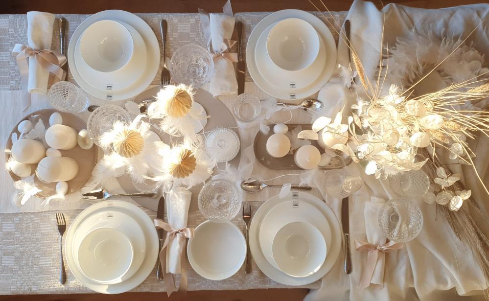 Idejas Lieldienu galda noformējumam